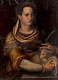 Italian School (16th century) Saint Agnes, Oil on