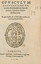 Lull (Raymond) - Opusculum Raymundinum de Auditu