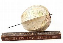 Betts (John) - Betts's New Portable Globe,