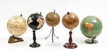 Philip (George, & Son) - Five assorted terrestrial globes,