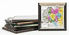 The Diagram Co.- - A group of twelve glass slides of cartographical interest,