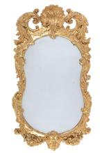 An Irish giltwood wall mirror, circa 1750 and later
