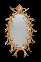 A George III carved giltwood wall mirror, circa 1800