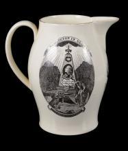 A Herculaneum Pottery, Liverpool printed creamware commemorative jug for...