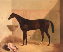 Harry Hall (1812-1888) - The hunter Satterly in a stable