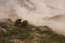 After Peter Graham (1836-1921) - Highland cattle