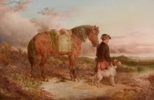Paul Jones (act. 1855-1888) - Young Scottish gamekeeper; and Young English gamekeeper