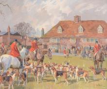 Peter Biegel (1913-1988) - The Ashford Valley Hunt