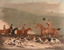 After Benjamin Marshall (1767-1835) - Francis Duckenfield Astley Esq. and his Harriers