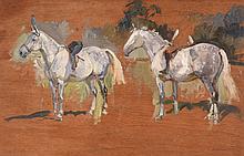 Peter Biegel (1913-1988) - Study of Dappled Greys
