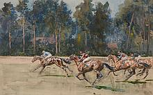 Lionel Dalhousie Robertson Edwards (1878-1966) - Ascot: the start of the Hunt Cup