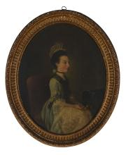 Circle of Douglas Hamilton (Irish c. 1739-1803) - Portrait of a seated lady