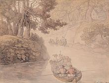 Thomas Rowlandson (British 1756-1827) - The Boating Party