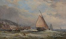 John Syer (British 1815-1885) - Off Cloveley; The Return of the Fishing Boats