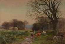Henry Charles Fox (British c.1860-1925) - A pair of country scenes