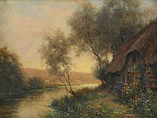 Louis Aston Knight (American 1873-1948) - Cottage river scene