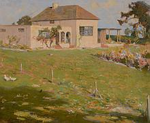 Frederick Hall (British 1860-1948) - A summer's garden