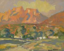 Johan Engela (South African 20th Century) - Table Mountain