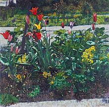 Christopher Sanders (1905-1991) - Tulips between Paths