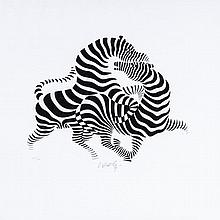 Victor Vasarely (1906-1997) - Zebra Couple