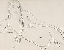 Sir Jacob Epstein (1880-1959) - Reclining female nude