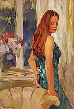 Yuri Krotov (b. 1964) - Evening portrait