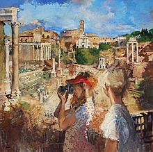 Peter Kuhfeld (b. 1952) - The Forum, Rome