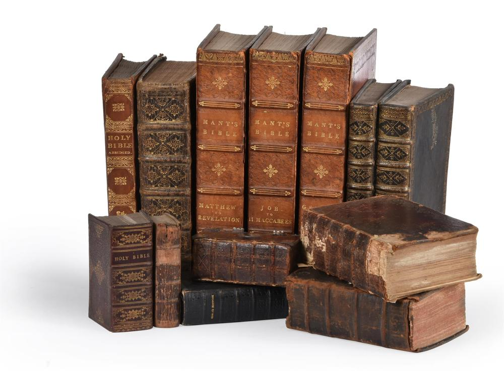 Ɵ BIBLES AND PRAYER BOOKS: 13 VOLUMES