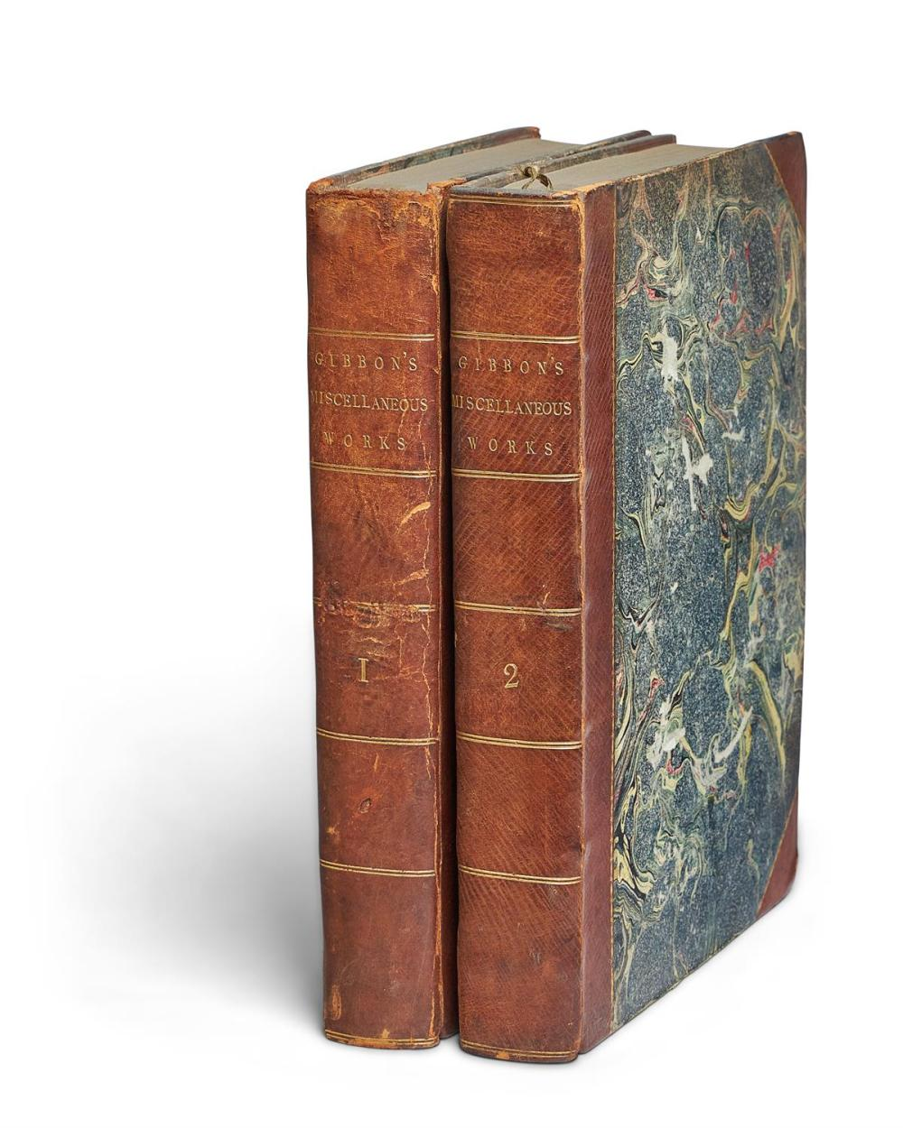 Ɵ GIBBON, E. MISCELLANEOUS WORKS, WITH MEMOIRS OF HIS LIFE AND WRITINGS. 2 VOLS., 1796