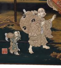 Y A Japanese lacquer panel