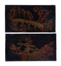 A suite of four lacquer panels