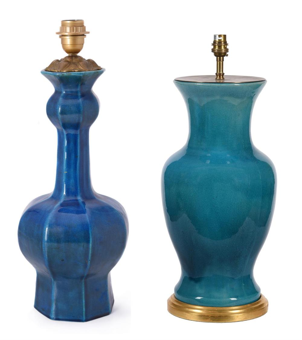 A turquoise ground Vaughan lamp
