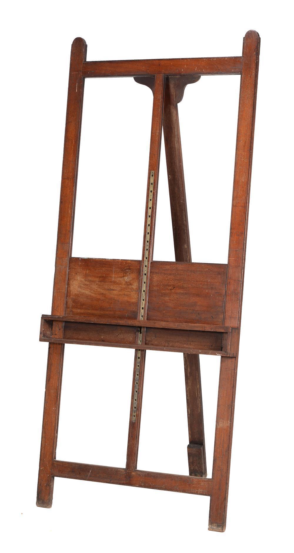 A mahogany artist's easel