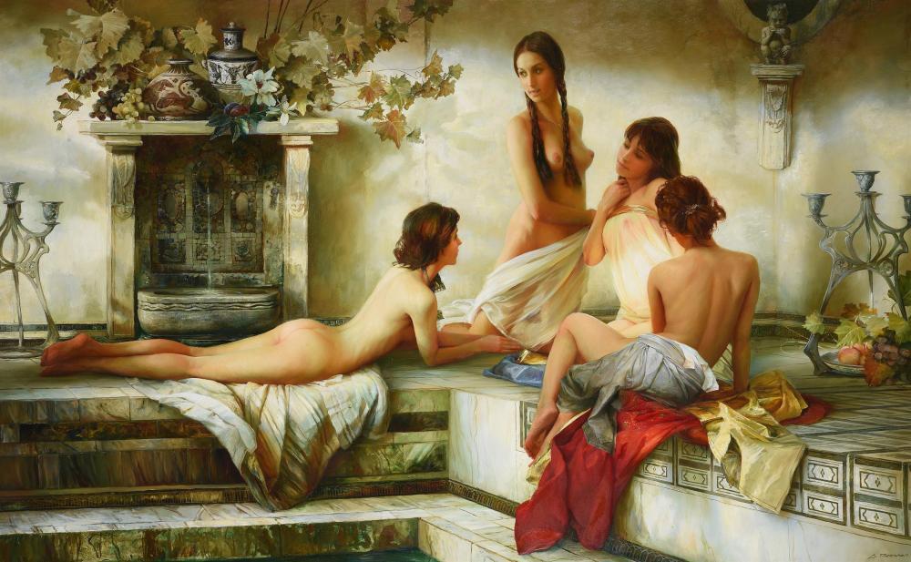 Serge Marshennikov (Russian b. 1971), The bath of Aphrodite