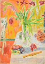 λ Jean Jules Louis Cavaillès (French 1901-1977), Nature morte aux tulipes