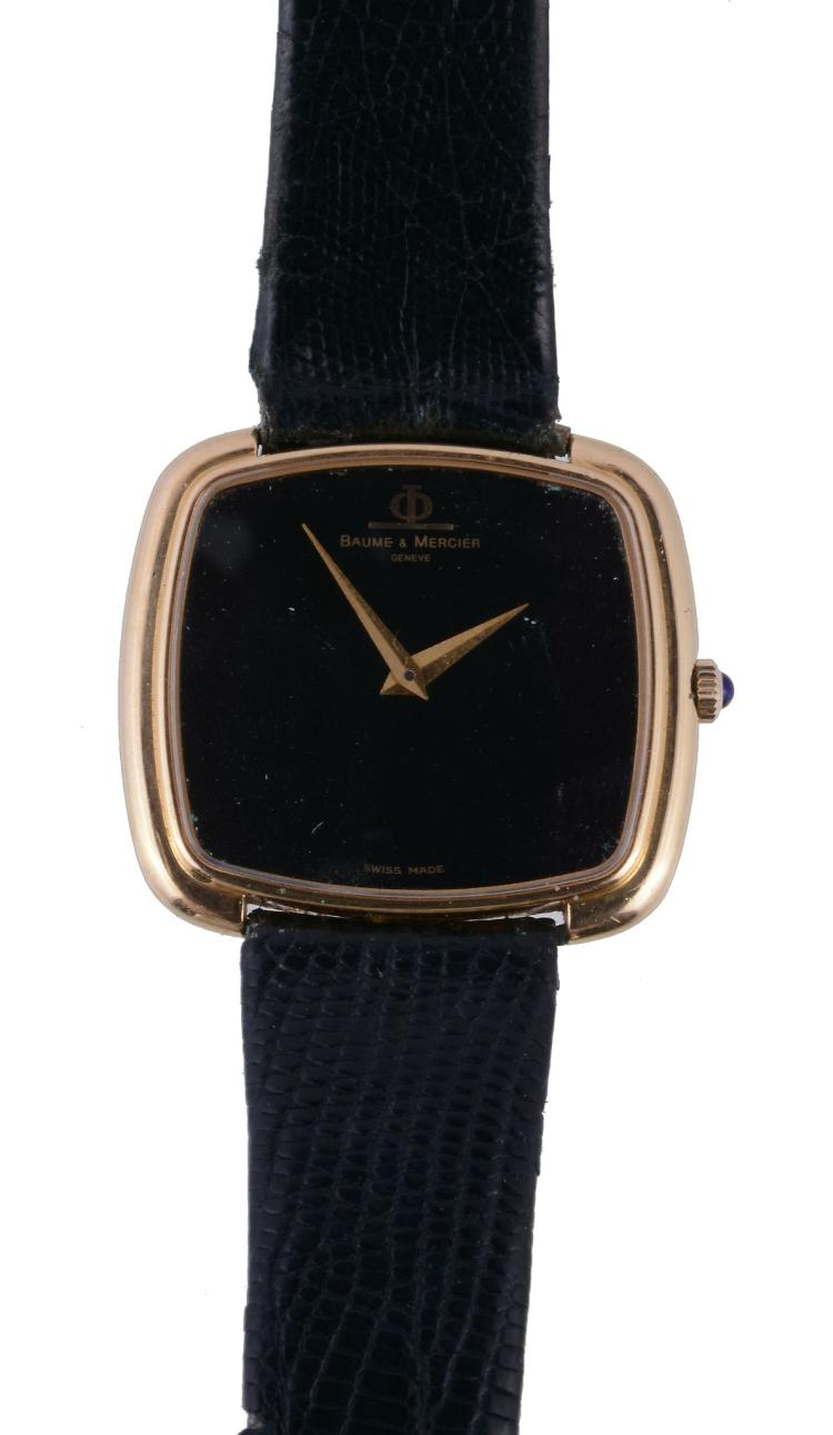 18 Carat Rose Gold: Baume & Mercier, Ref. 37089, An 18 Carat Gold Wristwatch, No