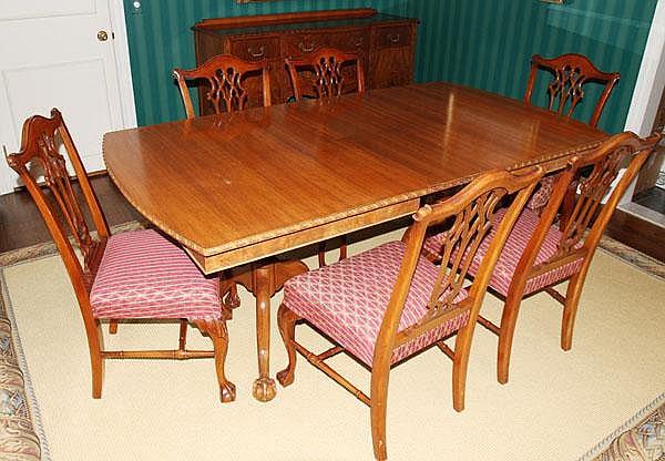 finch fine furniture co mahogany dining room set 9 pcs