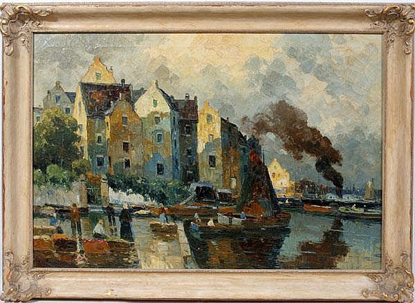 RUDOLF WEBER [AUSTRIAN 1872-1949] OIL ON CANVAS