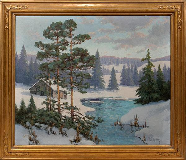 HANS JOHN STOLTENBERG, OIL ON CANVAS, 25
