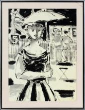 EMIL WEDDIGE ACRYLIC IN BLACK & WHITE ON MASONITE