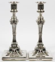 LONDON STERLING SINGLE LIGHT CANDLESTICKS, 1774