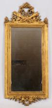 FRENCH STYLE HAND CARVED WALL MIRROR H 56