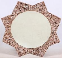 MOTHER-OF-PEARL INLAY MIRROR, DIA 48
