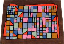 PAUL KLEE DESIGNED WOOL RUG, C. 1970'S