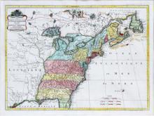 MARTIER & J. COVENS ET FILS COLORED PRINTED MAP
