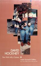 DAVID HOCKNEY OFFSET LITHOGRAPH EXHIBITION POSTER