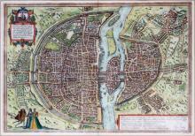 GEORG BRAUN & FRANS HOGENBERG HAND COLORED MAP