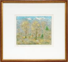 """EMIL WEDDIGE LITHOGRAPH ON PAPER""""ALONG OUR ROAD"""""""