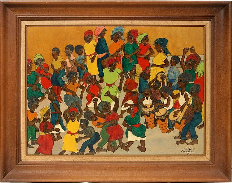 SEYMOUR E. BOTTEX [HAITIAN, B. 1918], OIL ON