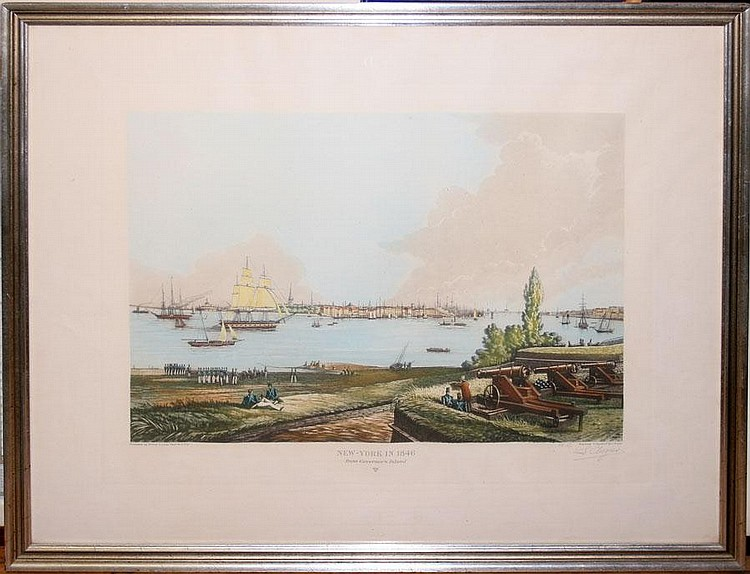 L. AUGIER, AQUATINT ENGRAVING, PENCIL SIGNED. 18
